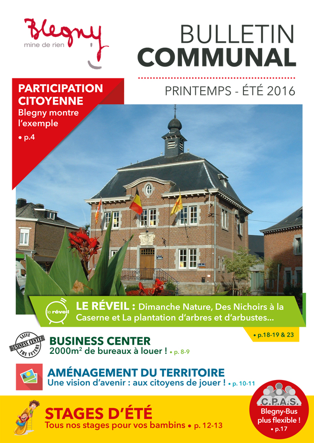 BULLETIN COMMUNAL : printemps-été 2016