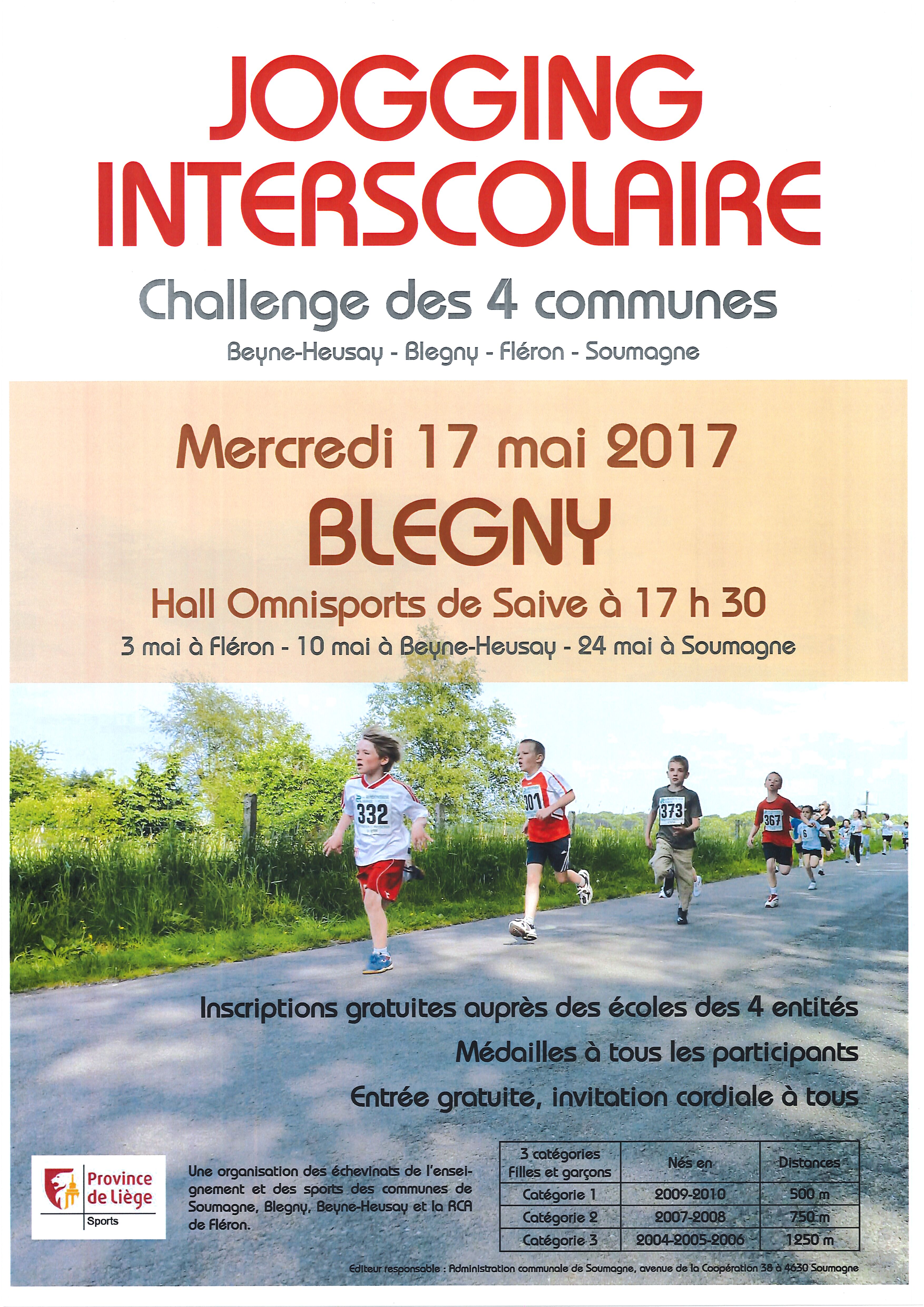 Jogging inter scolaire des 4 villages